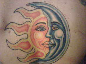 Sun and Moon Tattoo Design Picture