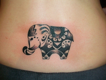 Tribal Elephant Tattoo Design Picture
