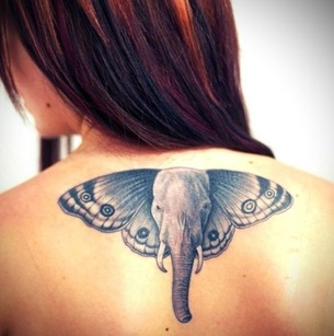 Elephant Tattoo Design for Women Picture
