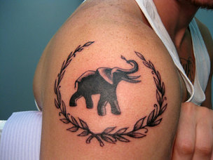 Elephant Tattoo Design for Men Picture