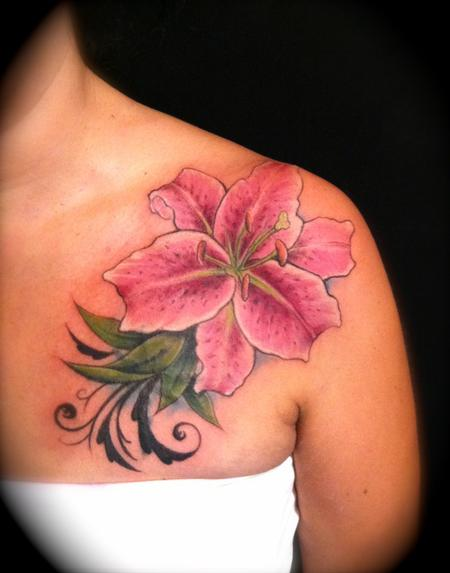 Lily Flower Tattoos On Wrist: Lily Tattoo Design Ideas And Pictures Page 2