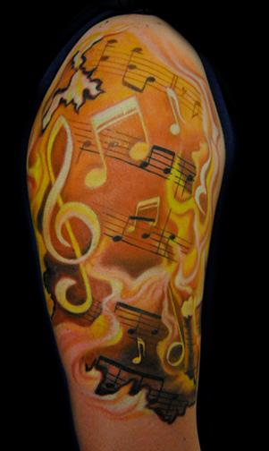 Music Tattoo Designs Half Sleeve: Music Tattoo Design Ideas And Pictures Page 2