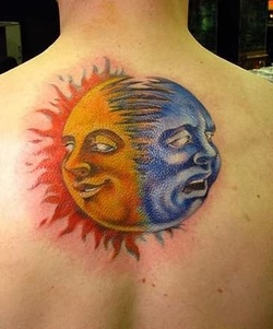 Moon Tattoo Design for Men Picture