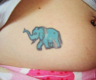 Small Elephant Tattoo Design Picture