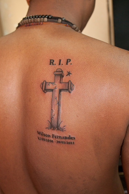 RIP cross tattoo design picture
